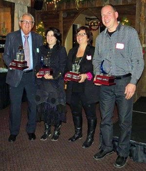 2015 Award Recipients (L-R): Doug Ellison, Erryn Shephard, Veronica Brennan, Mike Stanlake.