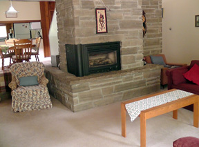 A & K Cottage Rental - Fireplace