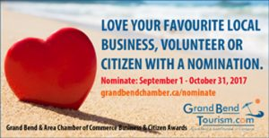 Love Your Favourite Local Business, Volunteer or Citizen with a Nomination.